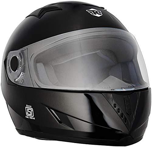 Royal Enfield Street Pin Stripe HES16011 Full Face Helmet (Glossy Black, XL)