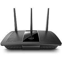 Linksys EA7500-EU - Router WiFi Gigabit MU-MIMO AC1900 MAX-Stream (monitorización y administración remota de Red, CPU a 1.4 GHz, 4 Puertos Gigabit Ethernet, USB 3.0, Seguridad Avanzada de Red), Negro