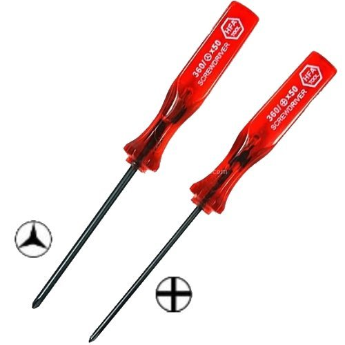 Price comparison product image ZedLabz tri-wing & cross wing philips security screwdriver set for Nintendo DS,  Lite,  DSi,  XL,  Game boy,  pocket,  colour,  advance,  advance sp