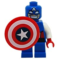 Genuine Lego Marvel CAPTAIN AMERICA *Short Legs* Minifigure SPLIT from 76065 Mighty Micros Set