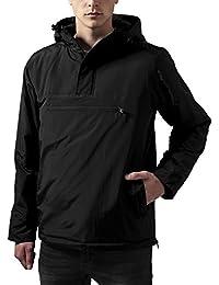 Urban Classics Herren-Jacke mit Kapuze - Überziehjacke aus Nylon mit Brusttasche