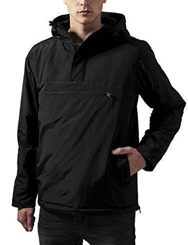 Urban Classics Padded Pull Over Jacket, Giacca Uomo, Nero (Black 7), Medium