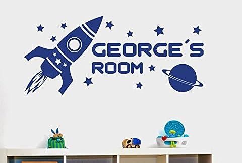 Rocket Ship - Personnalisé Rocket Ship In Space Kids Room