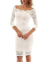 68f7e88bdea9 Simple-Fashion Primavera e Autunno Vestito Donna Corti Vestiti a Pizzo Moda  Strette Abito da