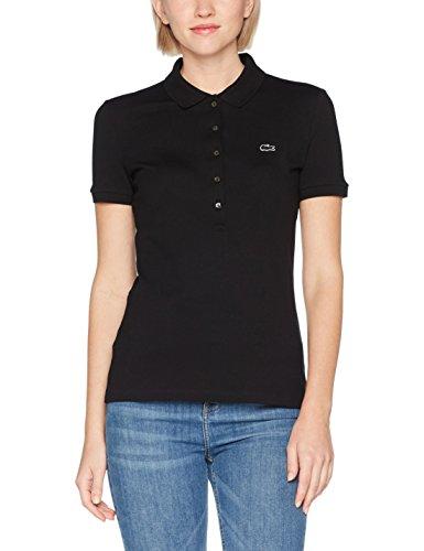 Lacoste Damen Poloshirt Pf7845, Schwarz (Noir), 38 (Herstellergröße: 38)