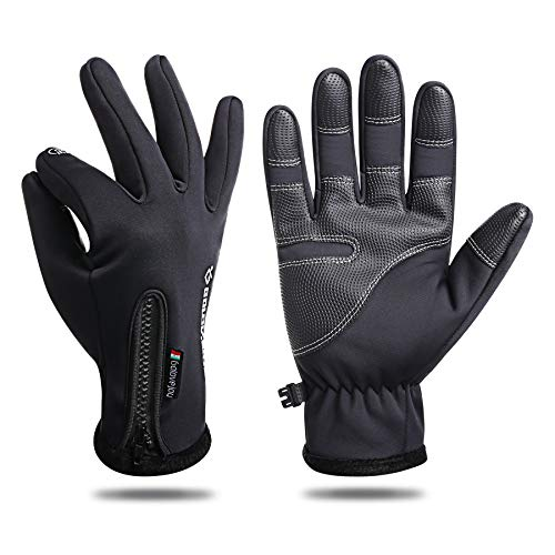 KONVINIT Winterhandschuhe Herren Warm und Winddichte Touchscreen Fahrradhandschuhe Outdoor Sport Vollfinger Handschuhe Frauen für Laufen,Radsport,Reiten,Wandern XL