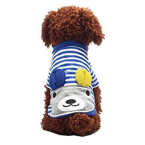 mama stadt Haustier Paar Kleidung für Welpen Hunde,Klassischer Streifen Kleidung Baumwolle Sweatshirt Frühling und ()
