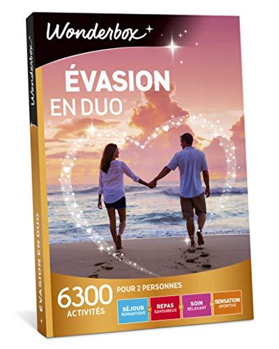 Wonderbox - Coffret cadeau Couple Saint valentin - EVASION EN DUO - 6300 séjours romantiques, repas...