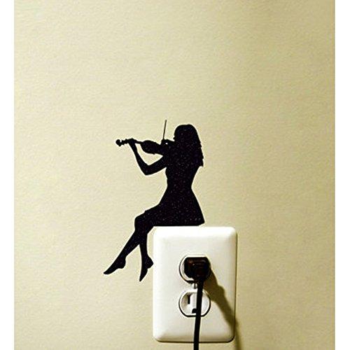 Violine Mädchen Schalter Aufkleber Dekoration Vinyl Tapetensticker Zimmer Home Dekoration 5 WS 0063 Abdeckung Für Violine