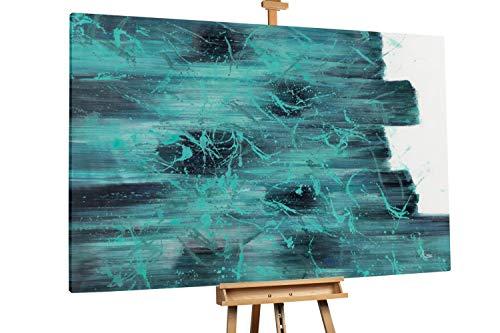 Kunstloft® Extraordinario Cuadro óleo 'Turquoise
