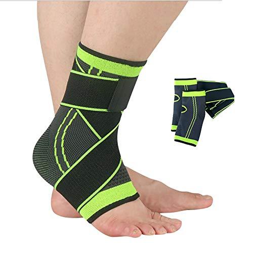 WHYIT Sprunggelenk Bandage Fersensporn Bandage Fußbandage, Schmerzlinderung bei Plantarfasziitis, Knöchelschmerzen und Schwellungen - Premium Kompressionssocken 2Pcs