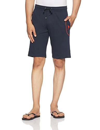 U.S. Polo Assn. Men's Cotton Lounge Shorts (8907538264275_I608-195-CP_Large_Navy)