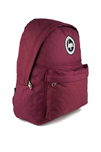 hype-backpack-bags-rucksack-diamond-quilted-burgundy-school-travel-day-bag