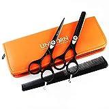"""Set de Tijeras de Peluquería Professional Barber Salon 5.5"""" tijeras de bigote afiladas tijeras de textura"""
