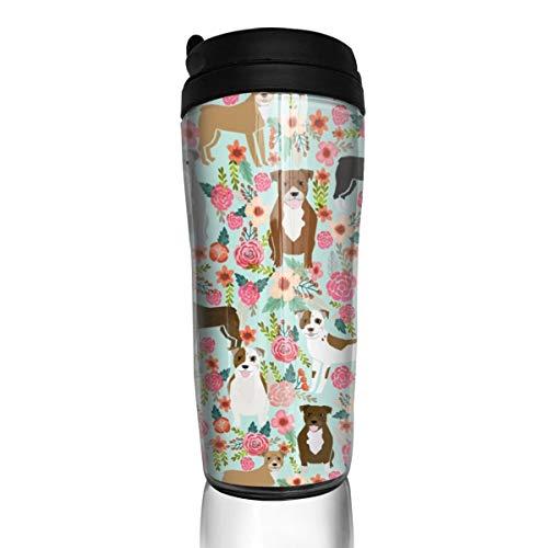 iers 18514 Kaffeetasse, süße Tiere, Blumen, Minzgrün, 340 ml, auslaufsicher, mit Klappdeckel, Wasserflasche, umweltfreundliches Material ABS ()
