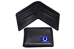 NFL Indianapolis Colts Men's Leather RFiD Safe Travel Wallet, 4.25 x 3.25