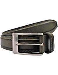 POLO INTL Men's Leather Belt (Henna Green, 32 inches)