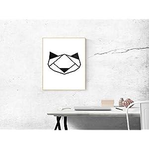 Katze Vinylschnitt-Bild A3