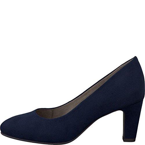 Tamaris Schuhe 1-1-22436-28 bequeme Damen Pumps, Sommerschuhe für modebewusste Frau, blau (NAVY), EU 37