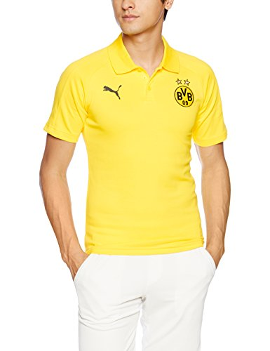 Puma Herren Bvb Casual Without Sponsor Logo Polo cyber yellow