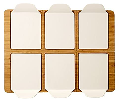 Villeroy & Boch 1041728171 Pizzateller, Porzellan, weiß, 52,3 x 42,3 x 5,4 cm, 7 Einheiten