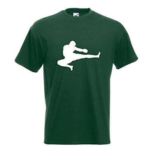 KIWISTAR - Kampfsport Karate Judo Kung T-Shirt in 15 verschiedenen Farben - Herren Funshirt bedruckt Design Sprüche Spruch Motive Oberteil Baumwolle Print Größe S M L XL XXL Flaschengruen