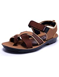 VKC Pride Men's Brown Colored Fashion Sandal
