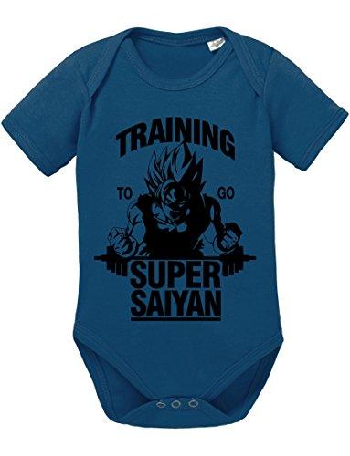 Goku Super Saiyajin Strampler Body Dragon Master Son Ball Vegeta Turtle Roshi Db, Größe:62;Farbe:Navy