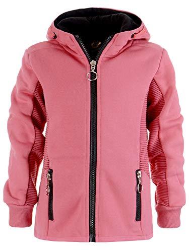 Mädchen Kinder Kapuzen Pullover Hoodie Sweat Shirt Jacke Kapuze 22865 Rosa 104