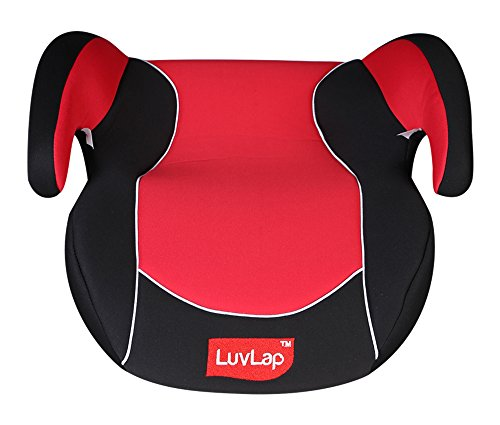 Luv Lap Backless Booster Baby Car Seat (Red)