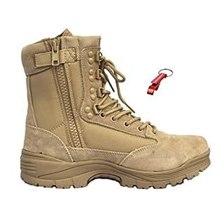Tactical Boot mit YKK-Zipper + AOS-Outdoor® Schlüsselanhänger khaki 43