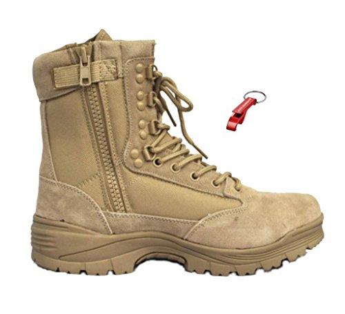 AOS-Outdoor Tactical Boot mit YKK-Zipper Schlüsselanhänger Khaki 44