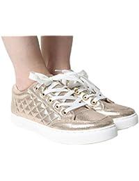 Paso n estilo elegante Womwn de JUTTI Mojari Zapatillas zapatos hecho a mano tradicional Punjabi, color Dorado, talla 41 EU