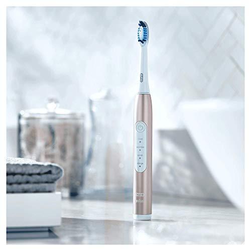 Oral-B Pulsonic Slim Luxe 4000 Elektrische Schallzahnbürste für gesünderes Zahnfleisch in 4 Wochen, mit Timer und Aufsteckbürste, rosegold