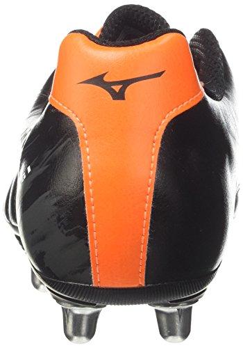 Mizuno Waitangi Cl, Scarpe da Rugby Uomo Nero (Black/White/Orange Clown Fish)