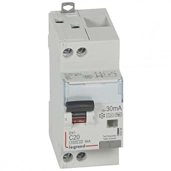 disjoncteur différentiel legrand dx3 20a courbe c 30ma 2 poles type hpi - vis / vis - 6ka