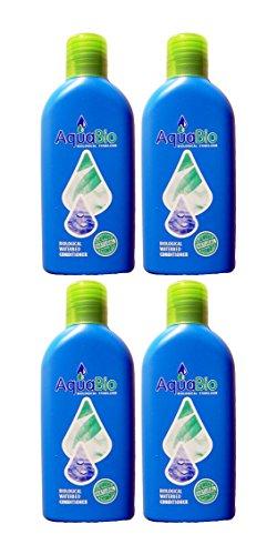 4x Aqua Bio Superonzentrat natürlicher Wasserbett Conditioner - Wasserbettkonditionierer ohne Chemie gegen Umkippen, Luft und Gerüche im Wasserbett -