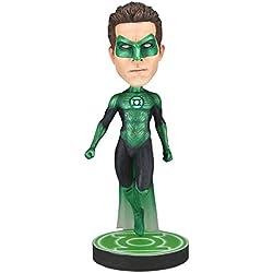 Linterna Verde Green Lantern - Figura Hal Jordan con cabeza móvil - Base con logo - Caja regalo - Resina 18 cm