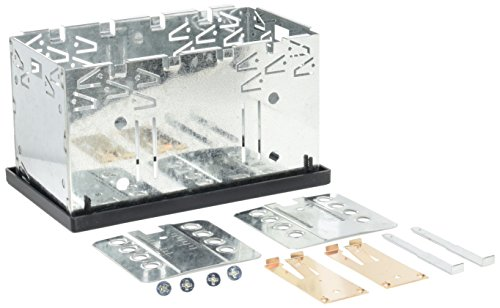 Xomax - plancia/telaio universale din2 (doppio din) in metallo + set completo con 4 viti, 2 piastre di montaggio e 2 chiavi di estrazione