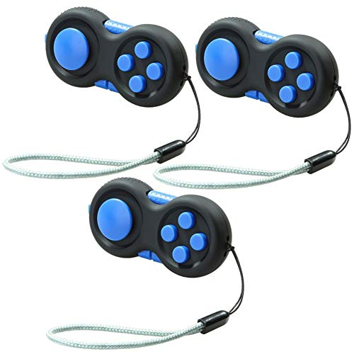 YaptheS Game Handle Multi Function Decompression Handle Decompression Cube Game Handles Relieve Stress Intellectual Pad Toy Stress Reduce Gadget for Kids 3pcs Random Color
