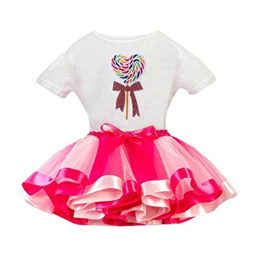 �m Rock Kinder (3T-9T) Mädchen Tutu Tüll Party Tanz Ballett Kinder (Tanz Kostüme Schuluniform)