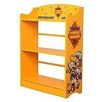 Sky Furniture Childrens JCB Muddy Friends Bookcase for Kids, 80 cm Height x 60 cm Weight x 24cm Depth