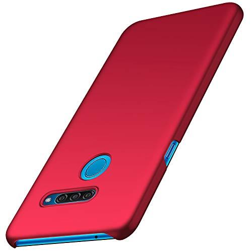 anccer Kompatibel mit LG Q60 Hülle, [Serie Matte] Elastische Schockabsorption & Ultra Thin Design für LG Q60 (Glattes Rot)
