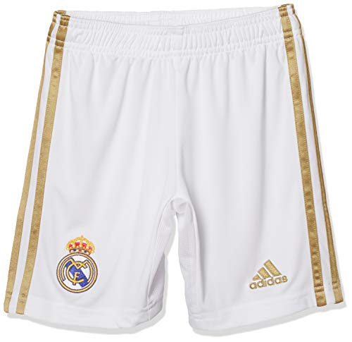 adidas Performance Real Madrid Short Home 2019/2020 Kinder weiß/Gold, 152