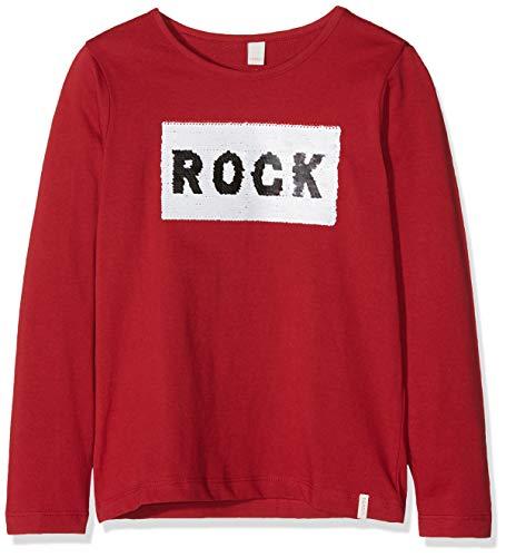 ESPRIT KIDS Mädchen T-Shirt RM1039307, Rot (Chockcherry 362), (Herstellergröße: 128+)