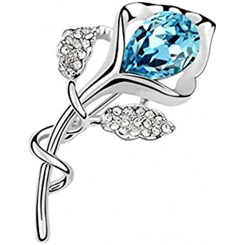 TAOTAOHAS austriaco cristallo Spille [ regina di fiori], 18KGP Rhinestone