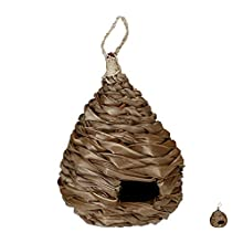 Relaxdays, Natural Birdhouse, Deco Nest, Hanging Box, Coconut Fibre, Woven, For Garden, Balcony, Feeder, Diff. Design