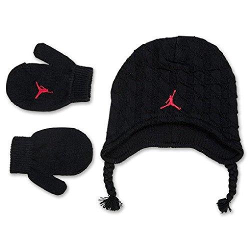 Nike Jordan Baby Boy 's Kabel Knit Beanie Mütze und Fäustlinge Set - Boy-mütze Und Fäustlinge Baby