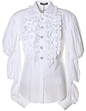 Dolce E Gabbana Blusa Donna F5H83ZFU5GKW800 Cotone Bianco