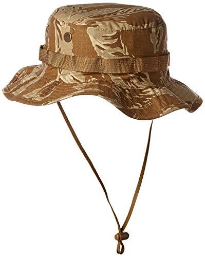 Tru-Spec Boonie, Original Dp T/s 100% CTTN R/s W/Loops, 7 Hut Desert Tiger Stripe 7 Tru Spec Tiger Stripe